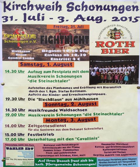 Kirchweih Schonungen 2015