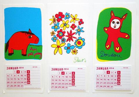 «Mon petit poney» «Fleurs» «Doudou» (klicken für grössere Ansicht)
