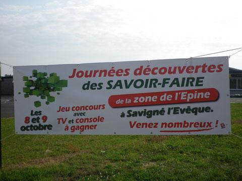 Bâche ZAC de l'Epine Savigné l'Evêque 3x 1 mètres