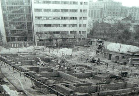 1944г. Строительство общежитий МЭИ