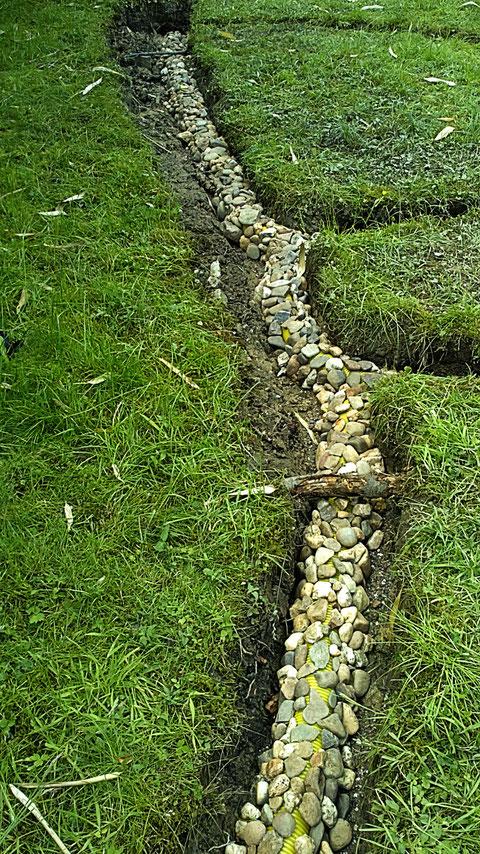 jeder Stein einzeln gelegt, weil ich erst nicht wusste ob ich mit den Steinen auskomme