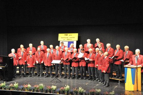 Männerchor bei der 150 Jahrfeier