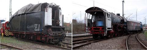 01 1104 -Lok und Tender getrennt unterwegs