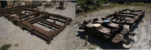 Zudem wurden wurden per Schiene Drehgestellteile angeliefert und entladen.
