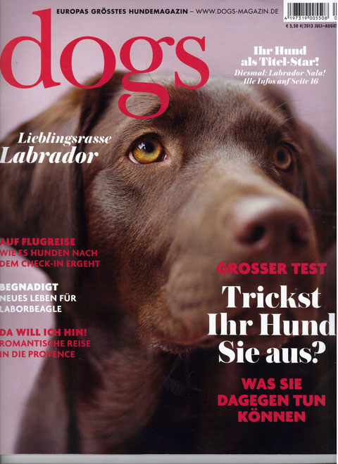 Quelle: dogs-Magazin 2013 Juli-August