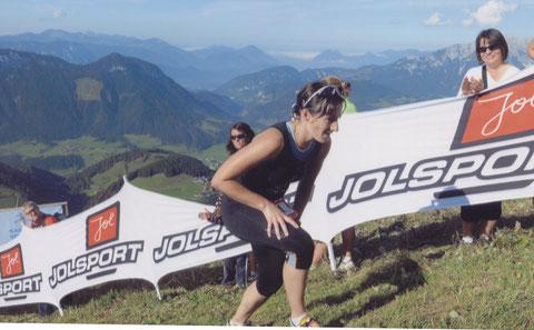 Nach 42km auf die hohe Salve, Ziel erreicht: zum Laufe einfach zu steil!!