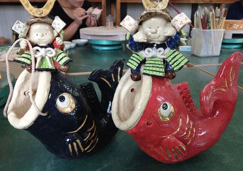 陶芸教室のカリキュラム 鯉のぼり