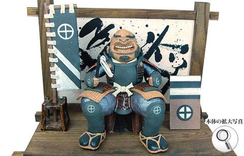 戦国武将、島津義弘の陶人形