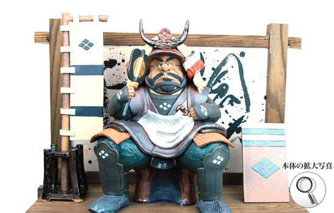 戦国武将、武田信玄の陶人形