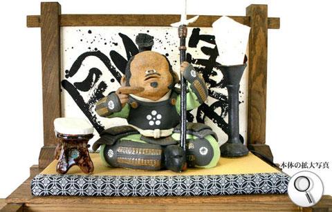 戦国武将、前田利家の陶人形