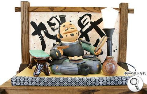 戦国武将、豊臣秀吉の陶人形