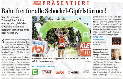Kleine Zeitung (Bild Schöckl 2012)