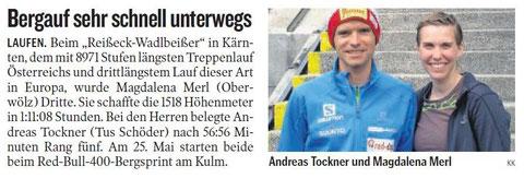 Kleine Zeitung 14.5.2014