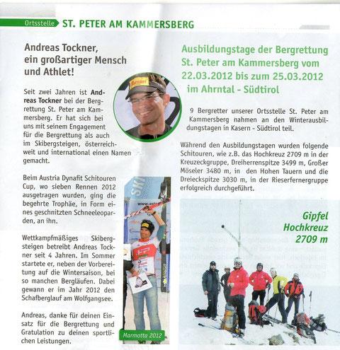 Bergrettungsförderer Zeitschrift 2012