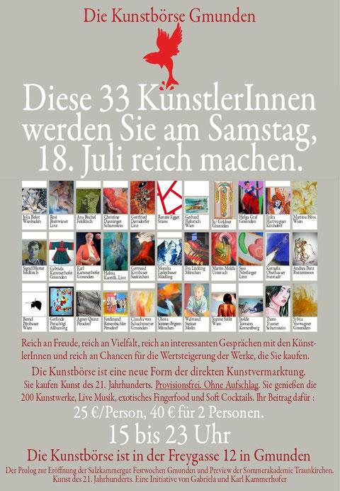 Plakat Kunstboerse Gmunden