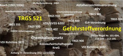 aktuelle TRGS 521 - Gefahrstoffverordnung - gesetzliche Vorgaben TRGS 521