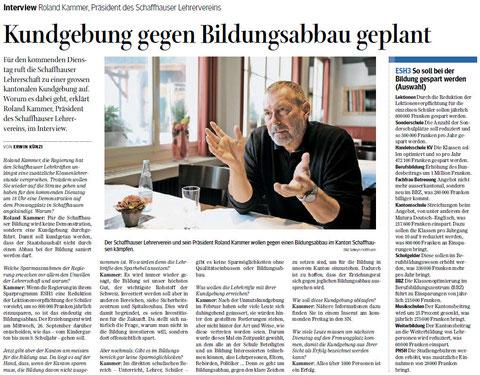 Quelle: Schaffhauser Nachrichten, 19.09.2012