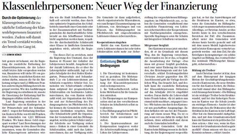 Quelle: Schaffhauser Nachrichten, 01.02.2013