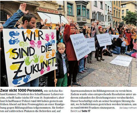 Quelle: Schaffhauser Nachrichten, 26.09.2012