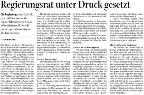 Quelle: Schaffhauser Nachrichten, 4. Mai 2013