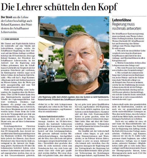 Quelle: Schaffhauser Nachrichten, 08. Juni 2013