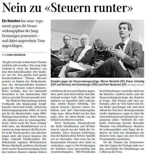 Quelle: Schaffhauser Nachrichten, 13.02.2013