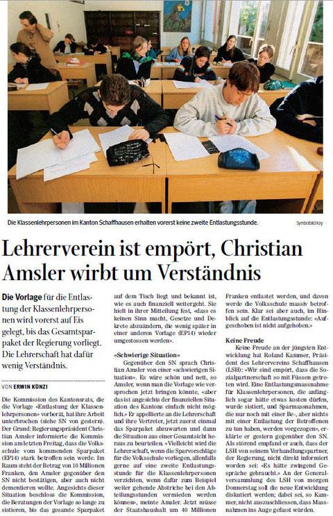 Quelle: Schaffhauser Nachrichten, 11. Juni 2014