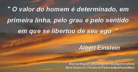 Palavras que fazem bem, Ego, Albert Einstein