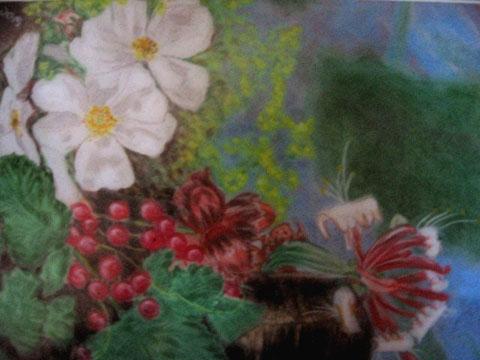 Pastellgarten 40x50 cm  Pastellkreide