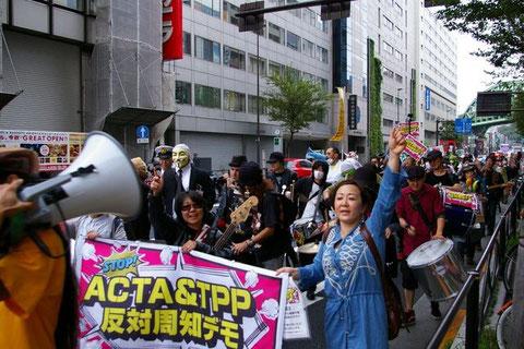 反ACTA,反TPP反対周知デモ