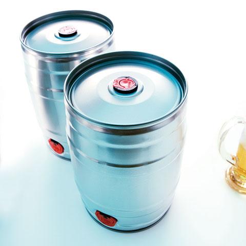 5 Liter Bierfass Partyfass Metallverpackungen HUBER Packaging