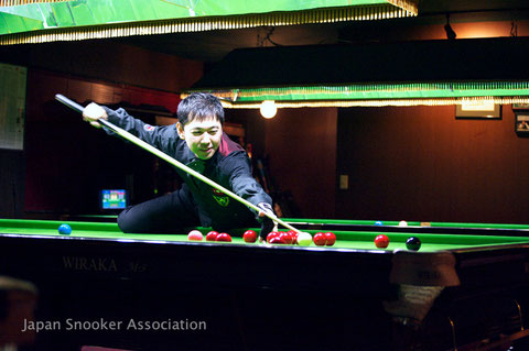 優勝の福田豊 Photo : Japan Snooker Association(以下同)