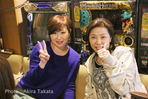 全日本女子プロツアー初日、ViVi会場にて曽根恭子(左)&林紀代