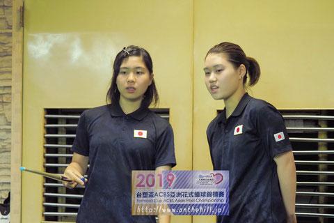 日本女子ジュニア(左:谷みいな、右:奥田玲生)、ダブルスで優勝!
