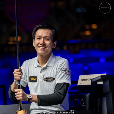 Masato Yoshioka from Japan gets 3rd prize at Predator World 10-ball Championship in Las Vegas.   Photo : Erwin Dionisio https://www.edionisio.com/ https://www.instagram.com/edionisiophotos/