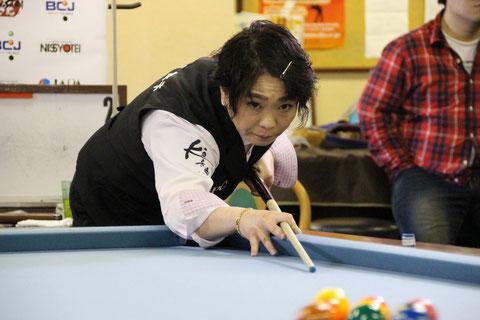 昨年の女流西日本代表・中村舞子(後に球聖位に) 写真:JAPA