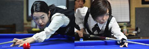 Orie Hida & Yuko Nishimoto ※2016レディース3C全日本選手権にて