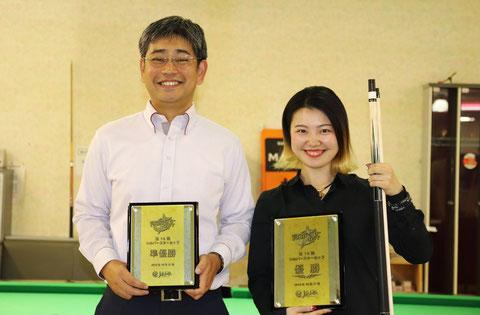 優勝の村松さくら(右) Photo : JAPA