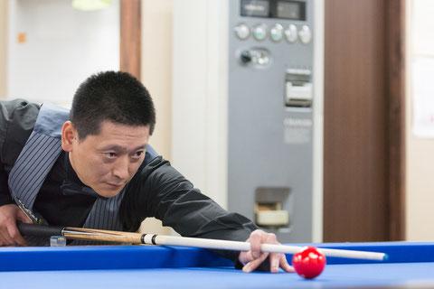 Hideaki Kobayashi won 3C Pro Tournament MIZUE, Tokyo Photo Courtesy of Carom Seminar