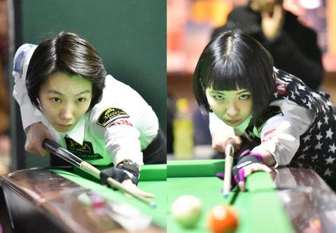 左:河原千尋、右:平口結貴 ※写真は2019年関東オープン
