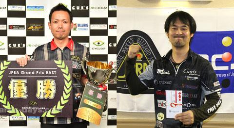 前節優勝者:GPE-5優勝の赤狩山幸男(左)とGPW-3優勝の竹中寛