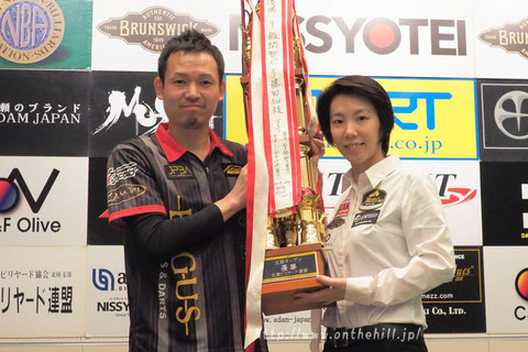 Yukio Akagariyama & Chihiro Kawahara won 2019 Hokuriku Open, Kanazawa, Japan. Photo : On the hill !
