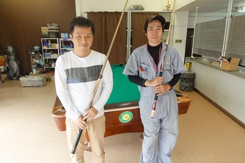 Happy代表根岸さん(左)と小川徳郎プロ