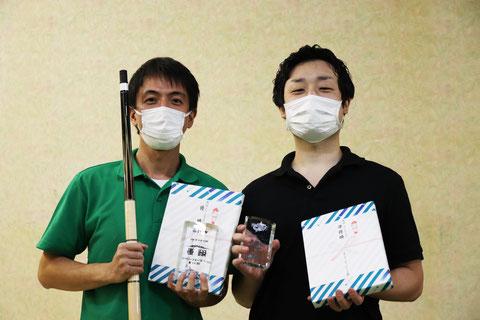 左:優勝のシェン シャオユン、右:準優勝の馬場 智靖 撮影:JAPA 2021