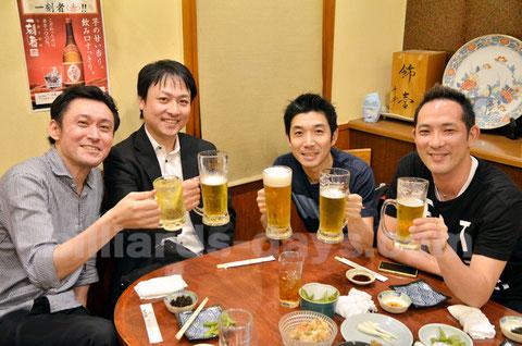 JPBA 40th class, Tomoo Takano (left)