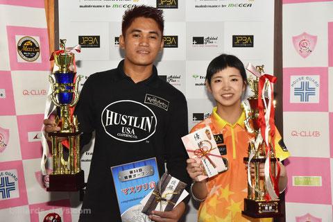 昨年の関東オープン男女優勝者:イグナシオ&平口結貴 2016 Winners