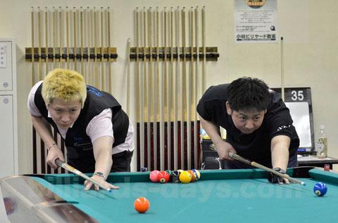 8月初旬の『東日本東京10ボール』は喜島安広(右)に軍配