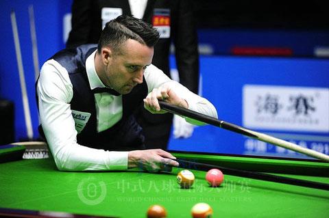 前々回、前回優勝。今回3位のG・ポッツ(イングランド)Chinese 8-Ball Masters © Sun Xiaoguang