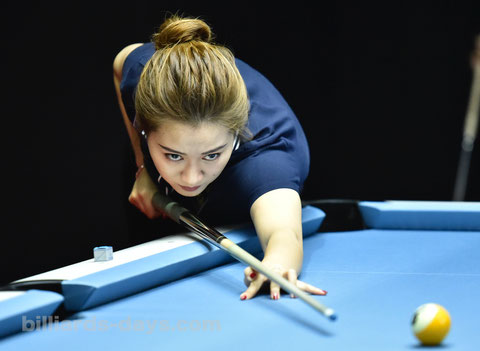 Han Yu won 2018 Womens World 9-ball Championship ※写真は2018 China Openより