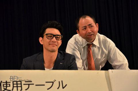 金子昇さん(左)